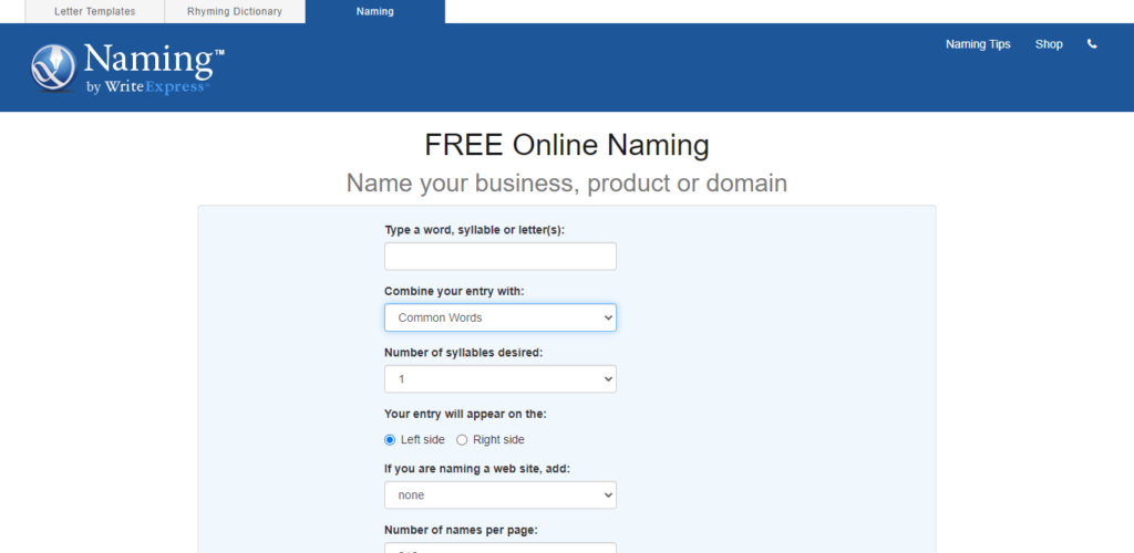 Naming - How to start an Ecommerce Business 2021